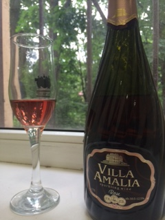 Вино игристое Вилла Амалия Розе