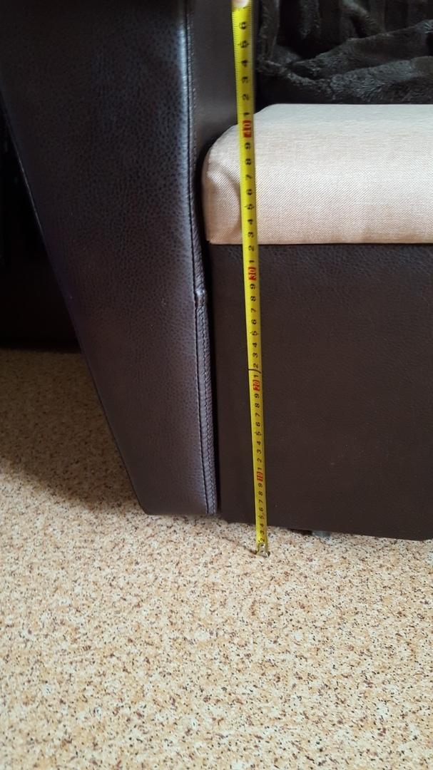 Заявленая высота дивана 43см... Тут не дотягивает и до 39