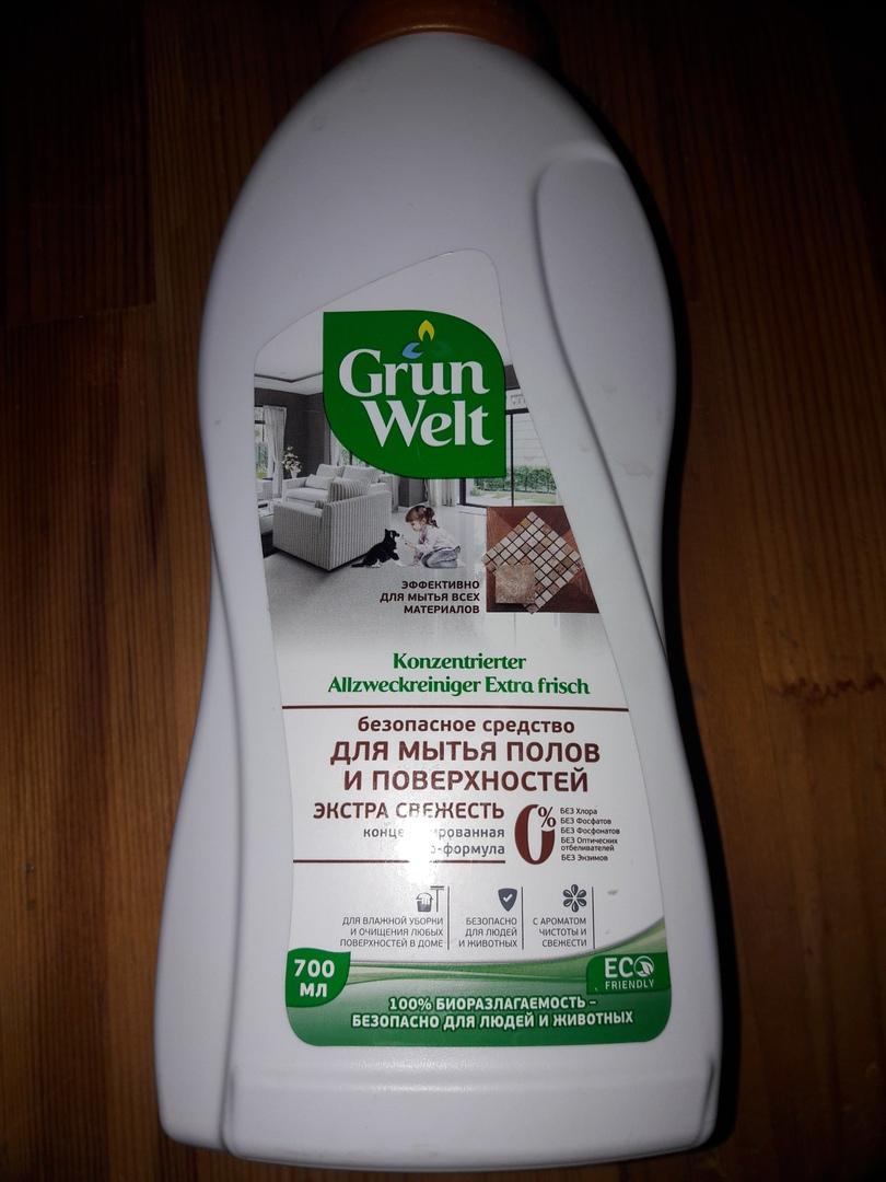 GrunWelt экосредство для мытья полов и поверхностей - Влажная уборка с безопасным моющим средством Grunwelt