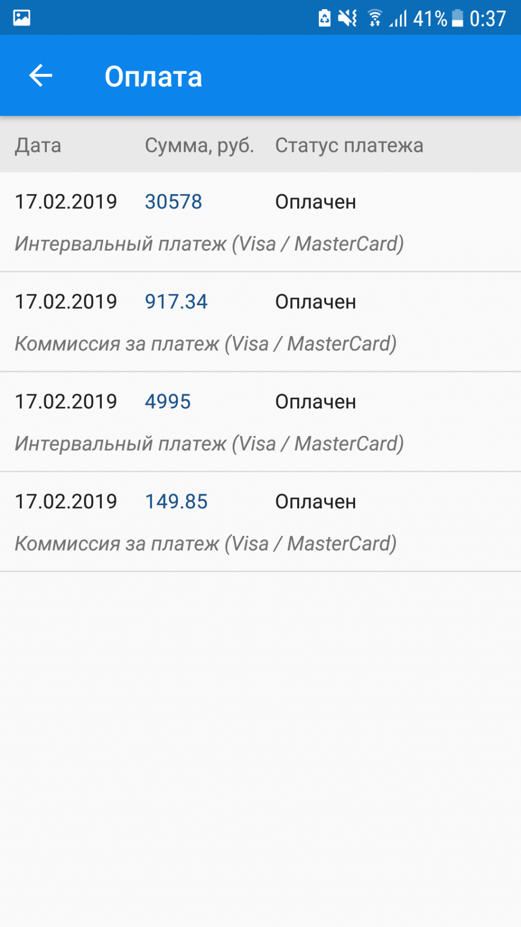Например, у вас кредитная карта на 100000 рублей с.