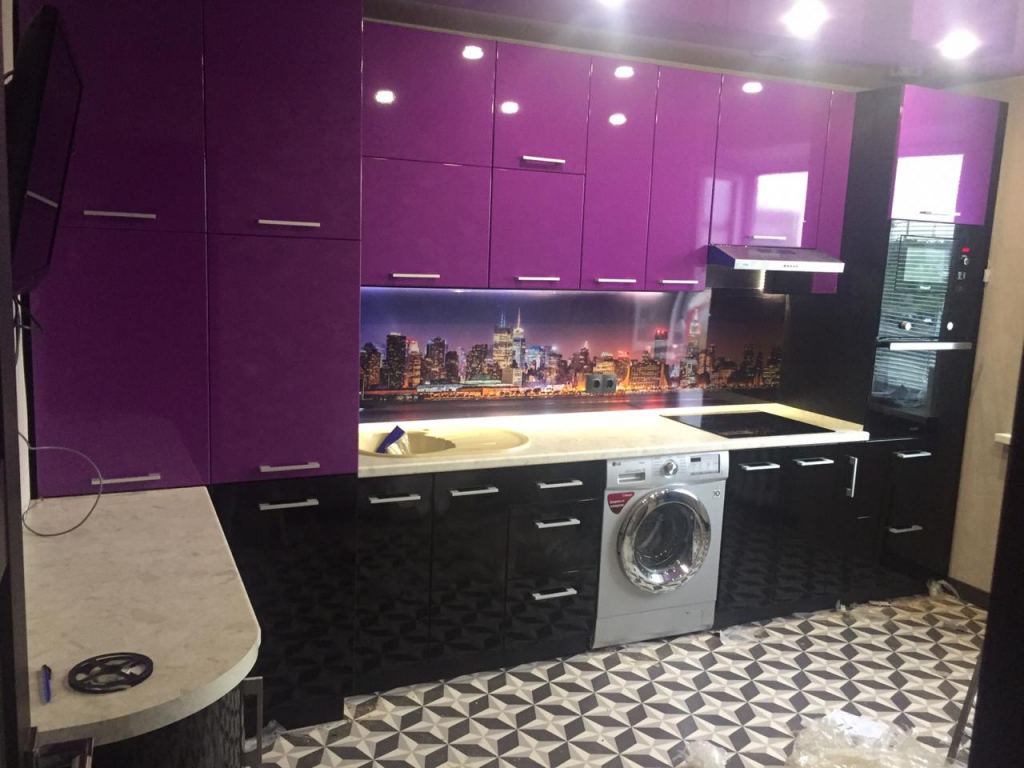 Уральская мебельная фабрика - Красивая фиолетовая кухня