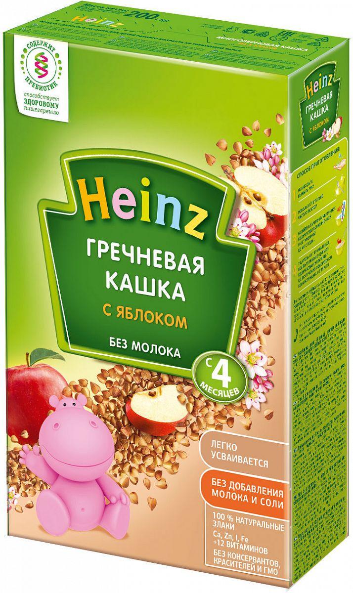 Heinz безмолочная гречневая каша с яблоком - Вкусная гречка с яблоком для самых маленьких