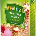 Heinz безмолочная гречневая каша с яблоком отзывы