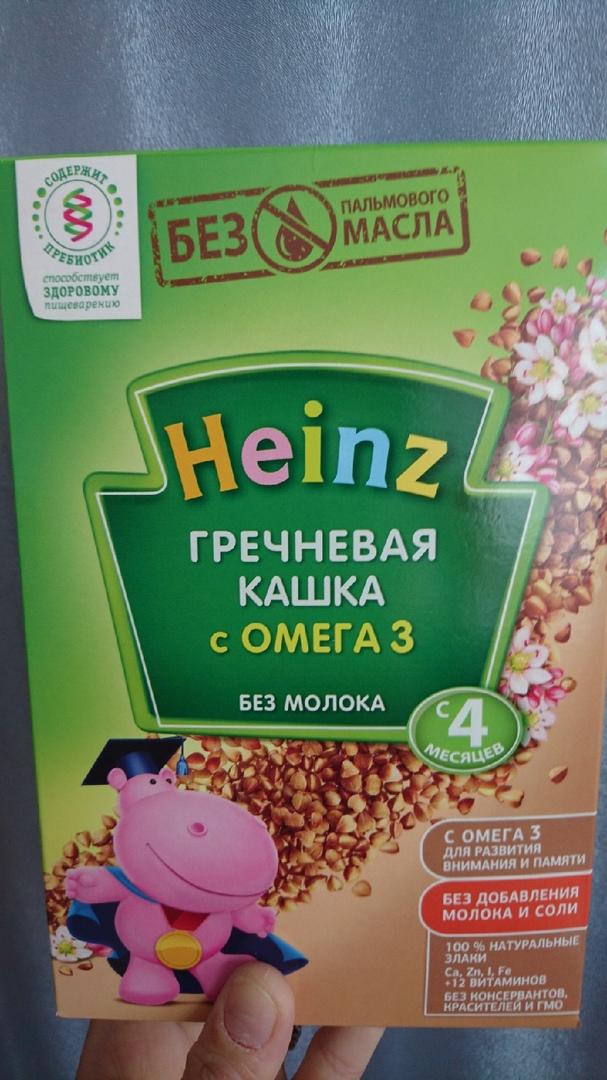 Heinz гречневая кашка с Омега3 - Максимум пользы для малыша