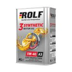 Масло ROLF 3-synthetic 5W40 отзывы