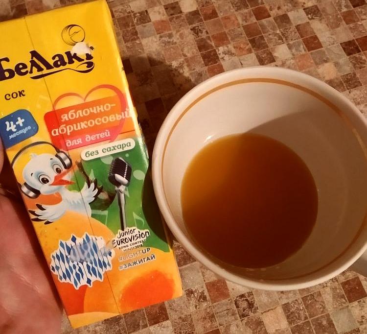 Беллакт Сок яблоко абрикос - Вкусный и полезный сок