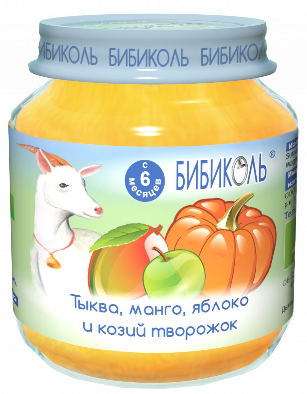Пюре Бибиколь тыква, манго, яблоко и козий творожок - Попробовали новинку