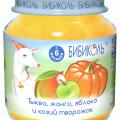 Пюре Бибиколь тыква, манго, яблоко и козий творожок отзывы