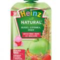 детское пюре Heinz яблоко, клубника, злаки отзывы